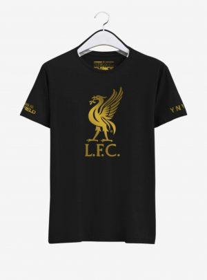 Liverpool Golden Crest Round Neck T Shirt Front