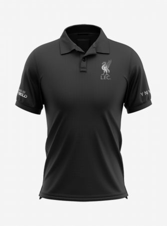 Liverpool-Silver-Crest-Black-Polo-T-Shirt-Front