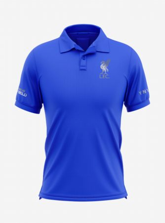 Liverpool-Silver-Crest-Royal-Blue-Polo-T-Shirt-Front