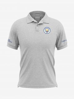 Manchester-City-Crest-Grey-Melange-Polo-T-Shirt-Front