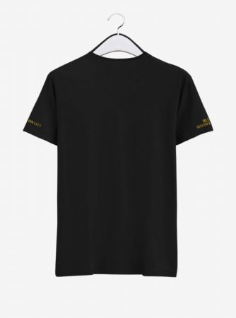 Manchester City Golden Crest Round Neck T Shirt Back
