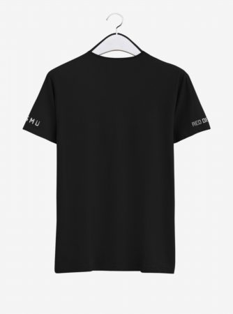Manchester United Silver Crest Round Neck T Shirt Back