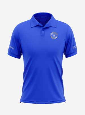 Manchester-United-Silver-Crest-Royal-Blue-Polo-T-Shirt-Front