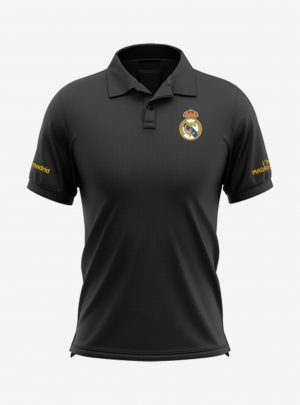 Real-Madrid-Crest-Black-Polo-T-Shirt-Front