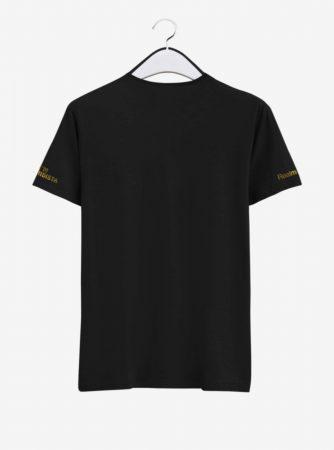 Real Madrid Golden Crest Round Neck T Shirt Back