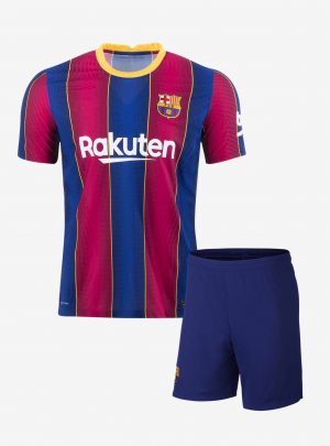Barcelona-Home-Football-Jersey-And-Shorts-20-21-Season