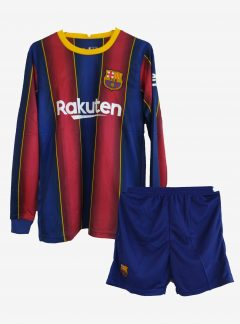 Barcelona-Home-Long-Sleeve-Football-Jersey-And-Shorts-20-21-Season