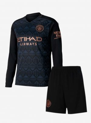 Manchester-City-Away-Long-Sleeve-Football-Jersey-And-Shorts-20-21-Season