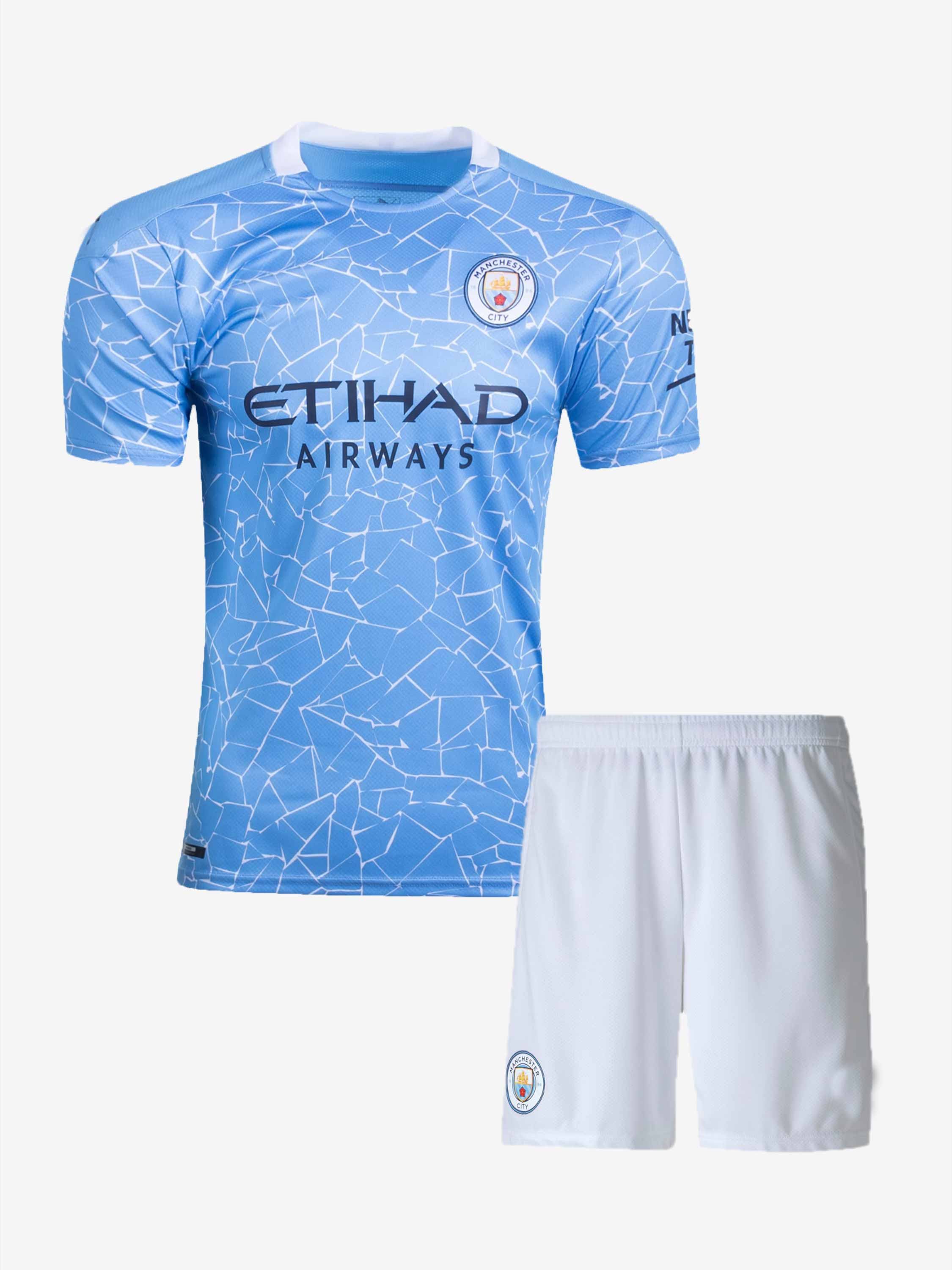 Manchester City Home Jersey And Shorts 20 21 Season Online In India