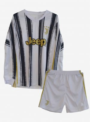 Juventus-Home-Long-Sleeve-Football-Jersey-And-Shorts-20-21-Season