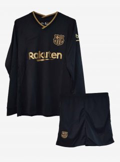 Barcelona-Away-Long-Sleeve-Football-Jersey-And-Shorts-20-21-Season