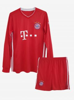 Bayern-Munich-Home-Long-Sleeve-Football-Jersey-And-Shorts-20-21-Season
