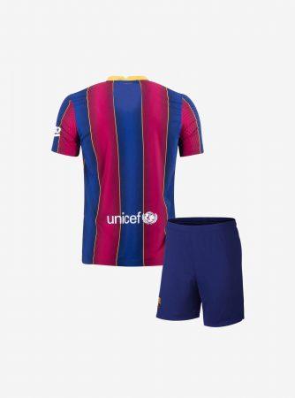 Kids-Barcelona-Home-Football-Jersey-And-Shorts-20-21-Season-Back