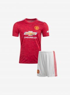 Kids-Manchester-United-Home-Football-Jersey-And-Shorts-20-21-Season