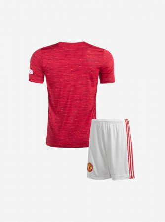 Kids-Manchester-United-Home-Football-Jersey-And-Shorts-20-21-Season-Back
