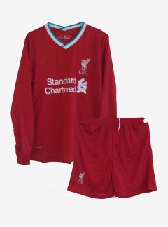 Liverpool-Home-Long-Sleeve-Football-Jersey-And-Shorts-20-21-Season