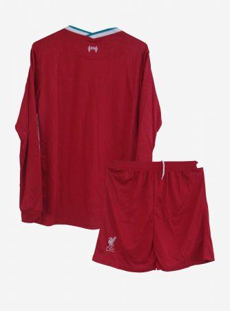 Liverpool-Home-Long-Sleeve-Football-Jersey-And-Shorts-20-21-Season-Back