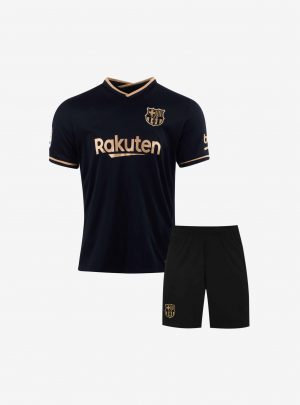 Kids-Barcelona-Away-Football-Jersey-And-Shorts-20-21-Season