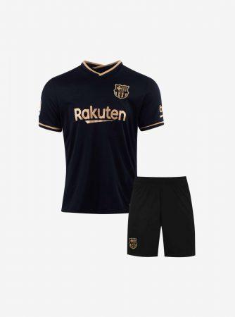 Kids-Barcelona-Away-Football-Jersey-And-Shorts-20-21-Season