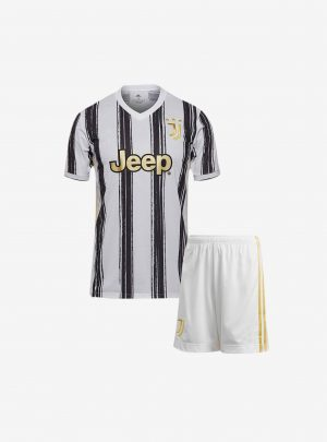Kids-Juventus-Home-Football-Jersey-And-Shorts-20-21-Season