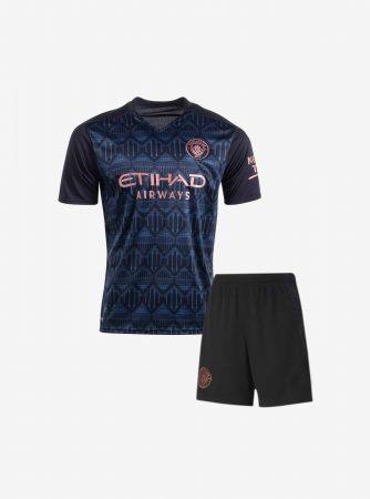Kids-Manchester-City-Away-Football-Jersey-And-Shorts-20-21-Season